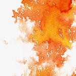 橘红色水墨晕染