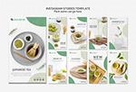 抹茶产品展示H5模板