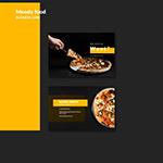 披萨店宣传名片
