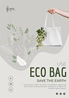 环保购物袋海报