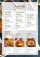 餐厅午餐菜谱模板
