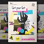 抽象艺术封面宣传单