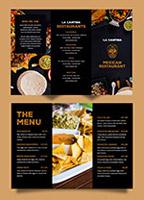 墨西哥餐厅折页菜单