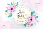 婚礼卡片设计素材