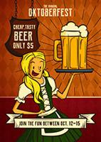 啤酒节漫画海报