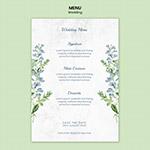 小清新婚礼菜单