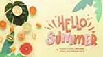 你好夏天清新海报
