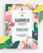 夏日热带风派对海报