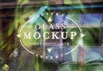 玻璃logo展示样机
