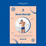 永不放弃游泳海报