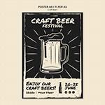 创意抽象啤酒海报