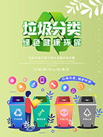 分类回收公益海报