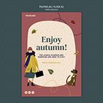 享受秋天海报