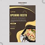 意大利面餐厅海报