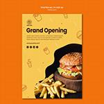 汉堡餐厅宣传单