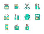 美妆产品系列图标