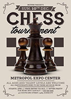 国际象棋比赛海报