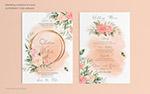 花卉婚礼请柬菜单模板