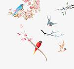 中国风花鸟素材