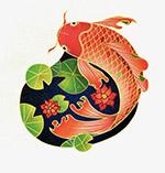 中国风国潮鲤鱼