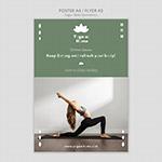 瑜伽练习宣传广告