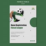 女子足球联赛垂直海报