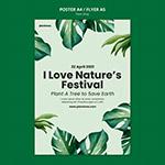热带植物装饰海报