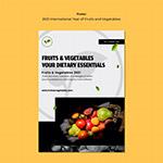新鲜果蔬宣传单