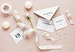花朵结婚贺卡展示样机