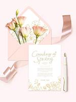 花卉春季卡片海报
