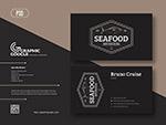 海鲜名片设计模板