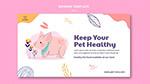 健康宠物横幅模板