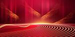 红色底纹光效商务背景