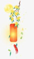 桂花树古风纸灯