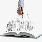 手绘教育城市科学书籍