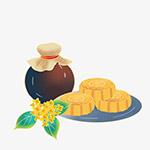 桂花酒和月饼