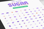 紫色扁平化图标