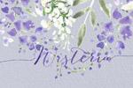 水彩紫藤花