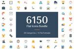 6150枚扁平图标