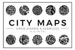 抽象城市地图图案