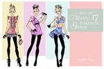 时尚少女模特插画