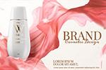 花朵装饰护肤品广告