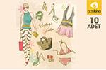 10款服装插画