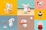 2020卡通老鼠插画