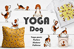 瑜伽狗图案