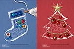 圣诞饰品图案海报