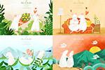 小白鼠家庭插画