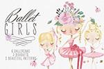 芭蕾舞女孩插画