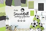 足球线性装饰图案