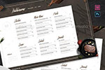 西式餐厅菜单